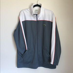 Lacoste Track Jacket Size 8/XXL Men's Gray